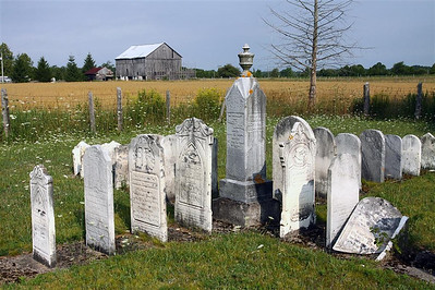 Renovated graveyard near Chesley