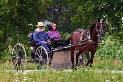 Older Amish couple near Elmira