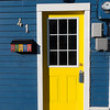 Yellow Door and Row Houses Mailbox