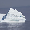 Huge Iceberg being Approached by a Zodiac