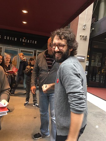 CC Bert & Ringo-Girl @BirdieBrainiac 9/29/16 @joshgroban was nice enough to say hello to the usual NYC group! Thanks @darrenlnorris for hanging with us! 🎼💪