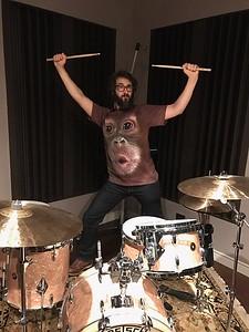 josh groban      Monkeying around at the studio. Thanks @Cgroban for my new favorite clothing item.