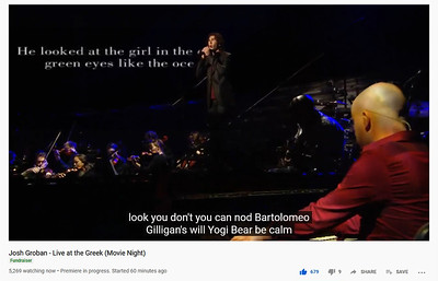 5/28/20 - Live at the Greek Movie Night - Closed captioning gone wrong!