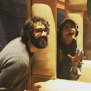 joshgroban  2/13/17  My stage wife Amber Gray and I are verrrryyyy serious during our recording sesh. #thecometalbumiscoming