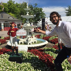 joshgroban  7/24/16   Had an awesome day off watching the races in Saratoga. Funny horse names and day drinking are the REAL winners here though, folks.