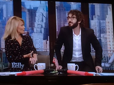 josh groban ‏@joshgroban 9/26/16   I took a crap right there on the stool and they STILL invited me back tomorrow. No shit, thanks for a super fun morning @KellyRipa!