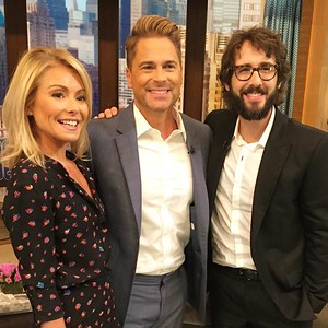 livekelly@robloweofficial 9/26/16  with Kelly and @JoshGroban! #LiveKelly #MCM #RobLowe #JoshGroban