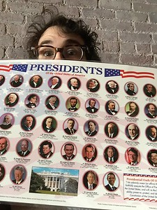 josh groban @joshgroban 2/20/17  Oh boy oh boy is my presidents placemat getting used today!