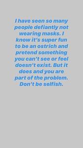 7/3/20 - Josh Instagram story.
