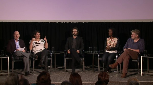 Times Talks with Josh Groban, Dave Malloy, Denee Benton and Rachel Chavin of Natasha, Pierre and The Great Comet of 1812  at DGA Theater on September 29, 2016 in New York City.