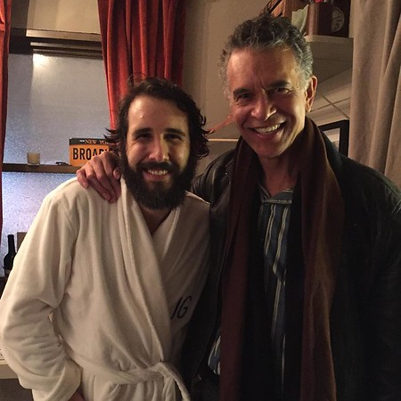 joshgroban  1/28/17  Do I look as giddy as I feel? Good lord do I look up to this man. Thank you Brian Stokes Mitchell for 1. Attending tonight and 2. Not telling me you were attending tonight. #hero #thatvoice
