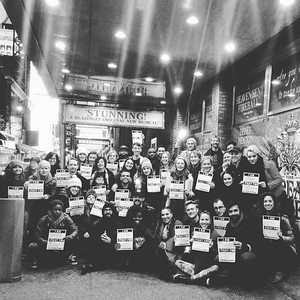 caughellrhymeswithgoggle  1/19/17  Such a great group! #bealight #followthecomet #broadway #ghostlightproject