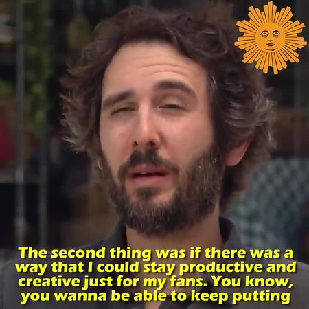 """5/23/20 - CBS Sunday Morning Sun with face @CBSSunday THIS #SundayMorning  @thatTracySmith  chats up @joshgroban  about trying to be Zen during the crisis, as well as what he misses about live performance and his social media posts features songs performed in his shower.   Groban also debuts for viewers his new song, """"Your Face."""""""