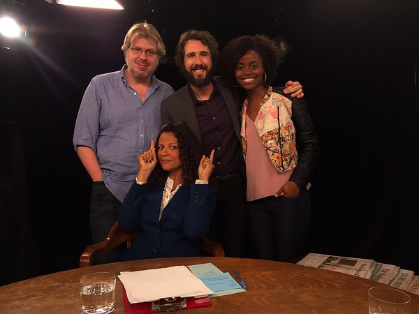 Alison Stewart    3/1/17 Tonight on @charlierose the talented @joshgroban  @DeneeBenton @dave_malloy from @GreatCometBway. Not a bad day to fill in.Get well Charlie!