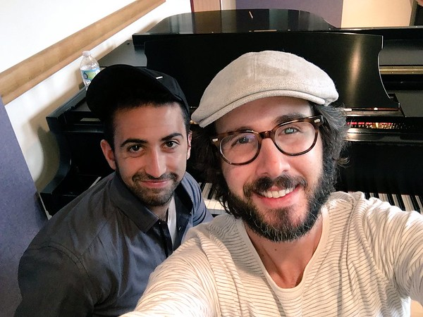 josh groban @joshgroban  8/17/16 josh groban Retweeted Or Matias  My favorite days off on tour are when I get to work on @GreatCometBway music with @OrMatias. Yes my shirt is PJ's.