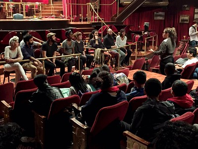 The Great Comet@GreatCometBway  11/2/16  It was our pleasure to welcome students from @FYLFoundation to see @GreatCometBway today & participate in a talkback w. the cast afterward.