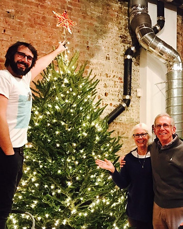 joshgroban  12/9/16  The parental Groban's have landed and they helped me pick a fantastic tree!!!! Ornaments go on tomorrow my arms are tired STRINGING LIGHTS IS HARD. 😴🌲