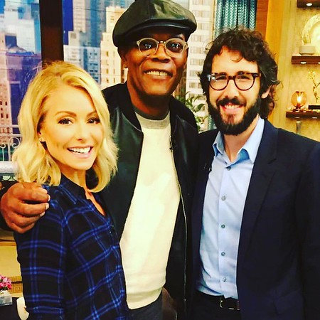 joshgroban  9/27/16  Sometimes I get to co-host with my brilliant hilarious friend @kellyripa and sometimes it results in the cover of my next Christmas card. Had a really fun couple of mornings with the fantastic Live! crew. #royalewithcheese