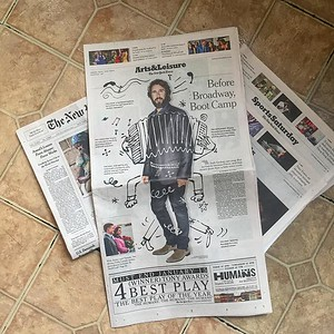 richterfit  12/17/16 Out here above and below the fold. #joshgroban #nytassignment