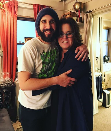 """joshgroban  2/1/17  In 1999, at the Grammy awards I was a fill in for, @rosie was the host and said """"hey opera boy. You're good. Come sing on my talk show next week."""" It was my first television appearance. All these years later to have her come to my Broadway debut is so full circle. Proud to call her my friend."""