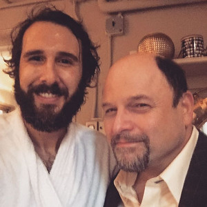 joshgroban  11/5/16 Awesome of Jason Alexander to come by @greatcometbway tonight! Guy is triple threat! Quadruple if you count the hilarity.