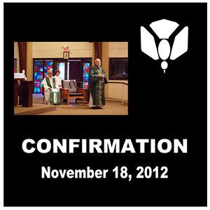 Confirmation - St, Thomas More Newman Parish Nov. 2012