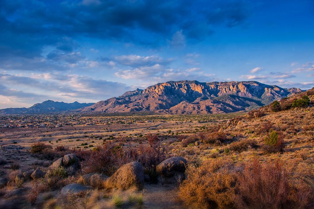 The Sandia Mountains, NM