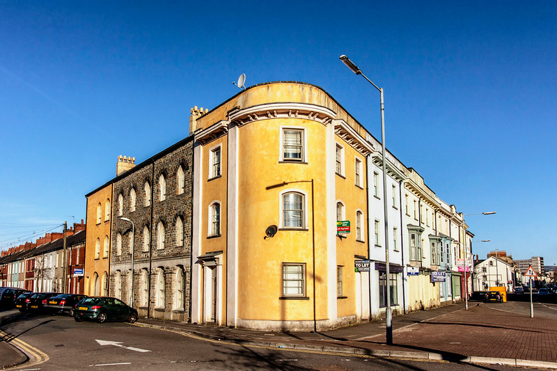 Orange building in Pill Newport 1