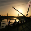 Newport River Usk Bridges Sunrise View 2
