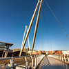 Newport City footbridge over The River Usk Newport 3