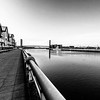 River Usk view to George Street Bridge, Newport, South Wales 1