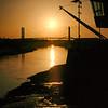 Newport River Usk Bridges Sunrise View 1