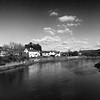 The Usk River Caerleon Newport Wales 2 B&W