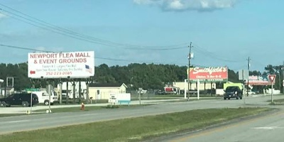 My first view of the Newport Flea Mall in Newport, North Carolina.