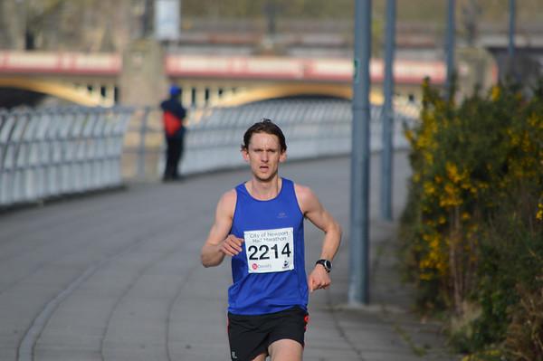 Newport Half Marathon. Mile 9.5