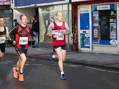 Newport Half Marathon - finish