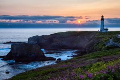 Yaquina Lighthouse @ Sunset
