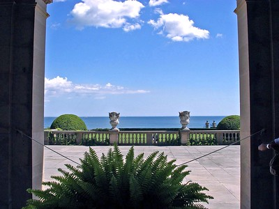 A view of the Atlantic Ocean from The Breakers