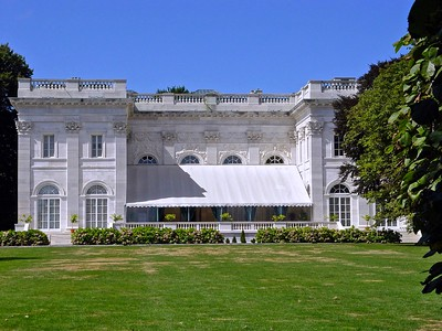 The rear of Marble House in Newport, Rhode Island