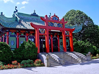 The Chinese Tea House on the Grounds of Marble House in Newport, RI