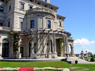 The West Terrace Gardens at The Breakers in Newport, Rhode Island