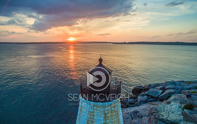 Sunset at Castle Hill Lighthouse