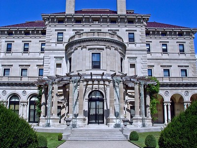 A side view of The Breakers in Newport, Rhode Island