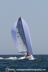 Race #6 1st Downwind, Peter Duncan in the lead