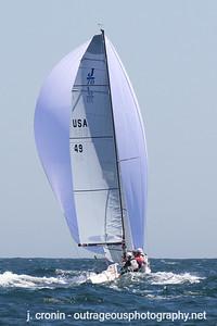 Race #6 2nd Downwind, race leaders