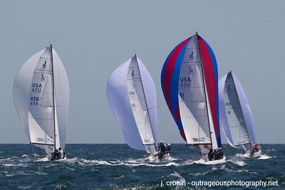 Race #6 1st Downwind, Top 4