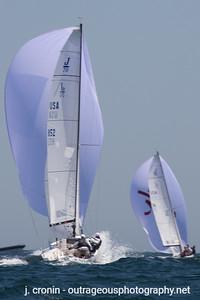 Race #6 2nd Downwind, top 5