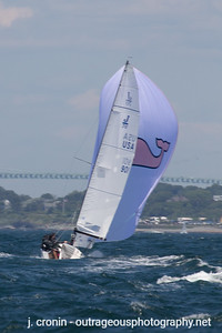 Race #6 1st Downwind, after gybe, 5th place