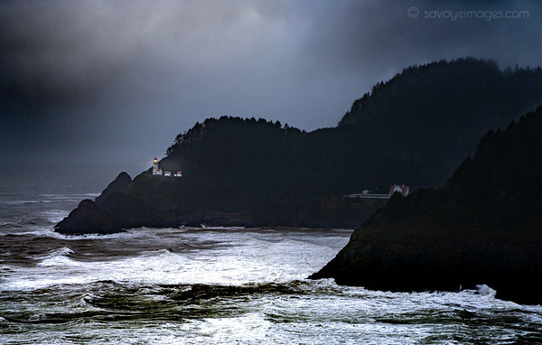 Storm at the lighthouse