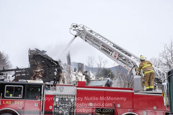 Structure Fire on Rte 131 Weathersfield
